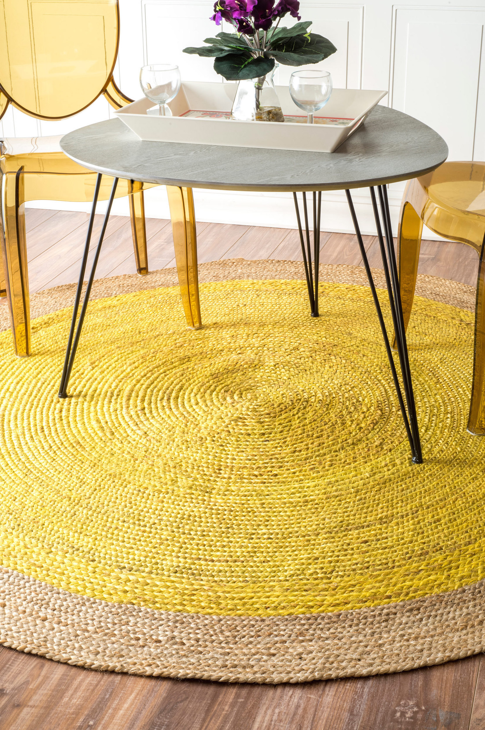 Teppich Rund Flur 25 Yellow Rug And Carpet Ideas To Brighten Up Any Room