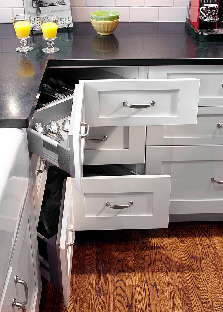 Kitchen Cabinet Drawers 30 Corner Drawers And Storage Solutions For The Modern Kitchen