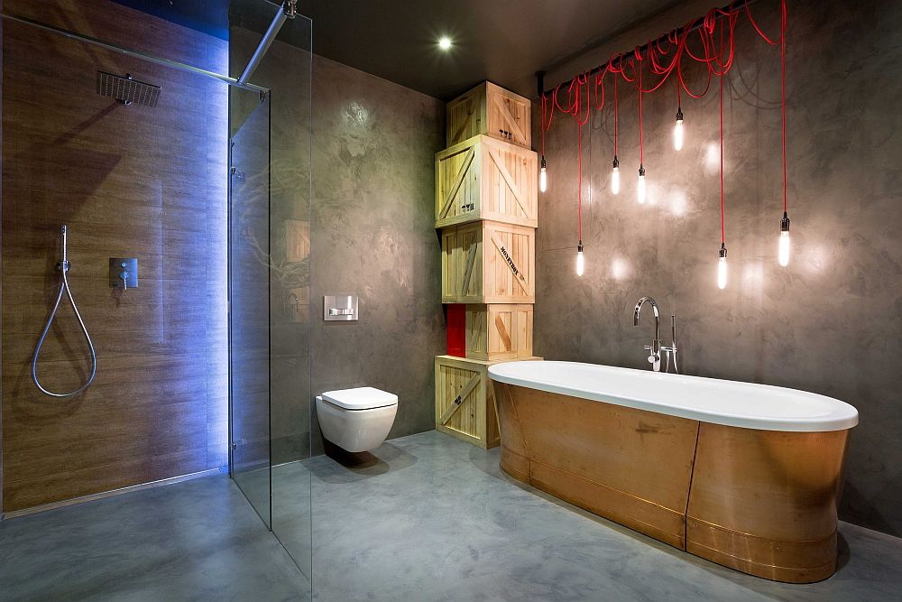 Meuble Salle De Bain 2 Vasques High-end Bachelor Pad Design: Stunning Loft In Kiev By