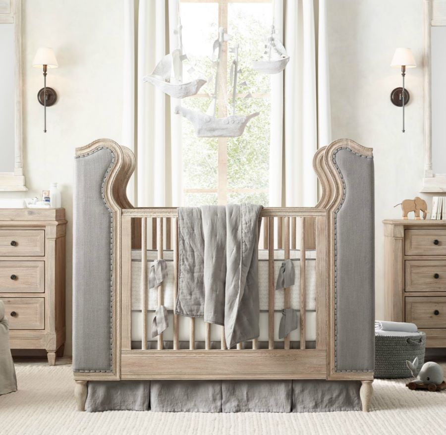 View in gallery tufted crib from rh baby child