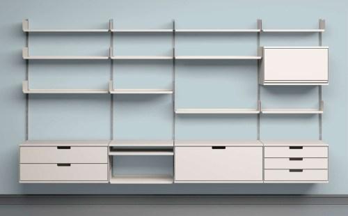 Medium Of Modular Wall Shelves