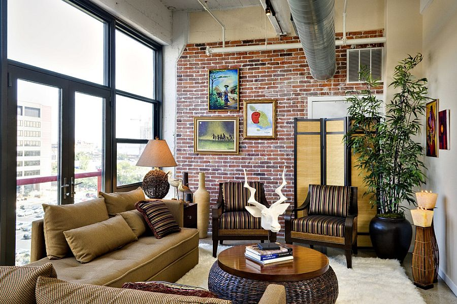 100 Brick Wall Living Rooms That Inspire Your Design Creativity - cool living room furniture