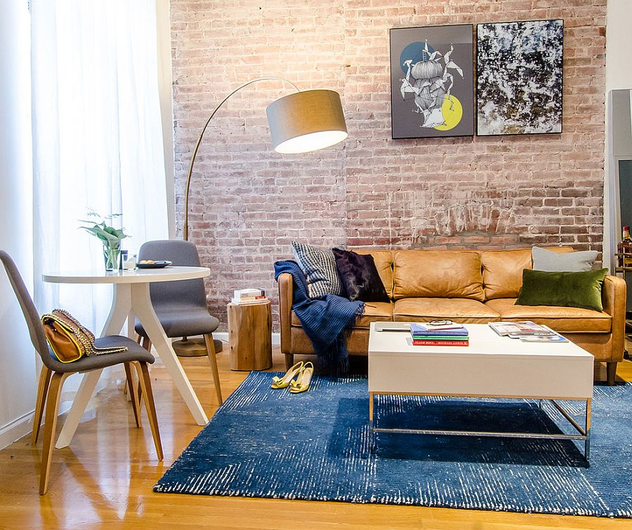 Sofa Couch The Brick 100 Brick Wall Living Rooms That Inspire Your Design