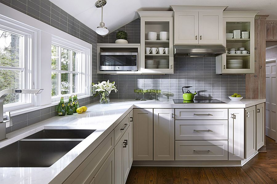 gorgeous gray kitchens usher trendy refinement small eat kitchen design photos colored appliances