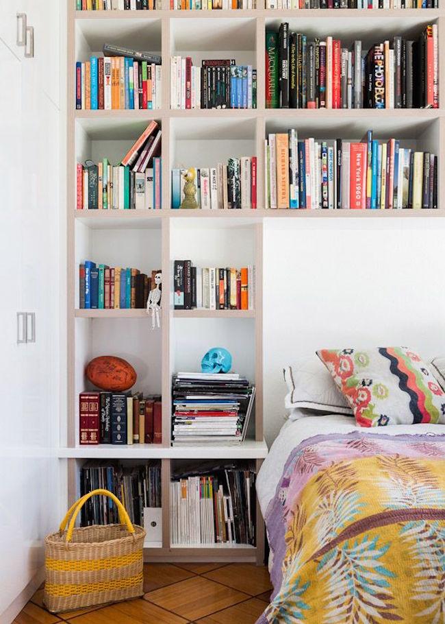 bedroom bookshelves