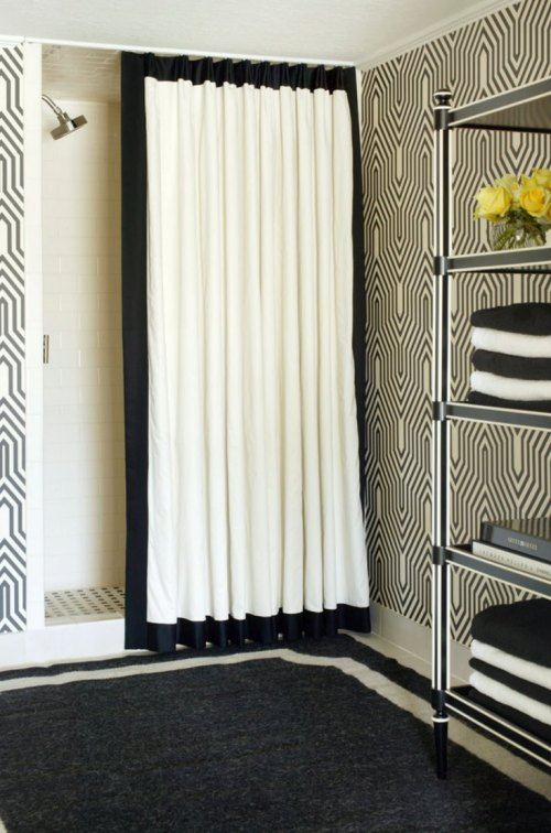 Medium Of Modern Shower Curtains