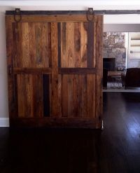 Sliding barn doors made from reclaimed chestnut lumber for ...