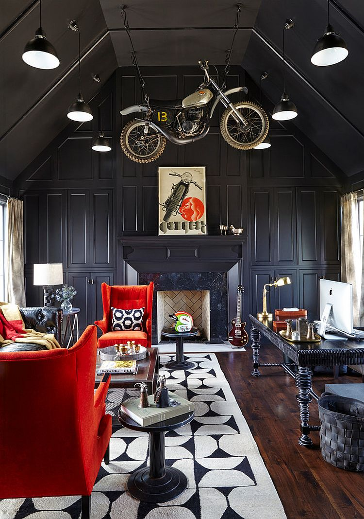 Home Office Club 20 Home Offices That Turn To Red For Energy And Excitement