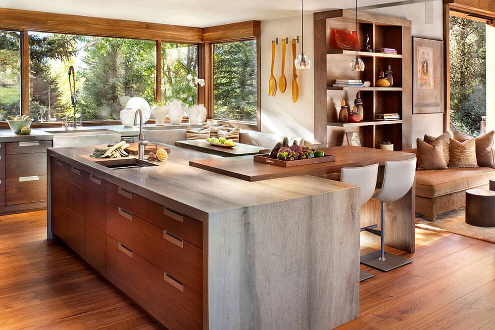 Colorado Mountain Home by Suman Architects Leaves Your Awestruck - rustic modern kitchen