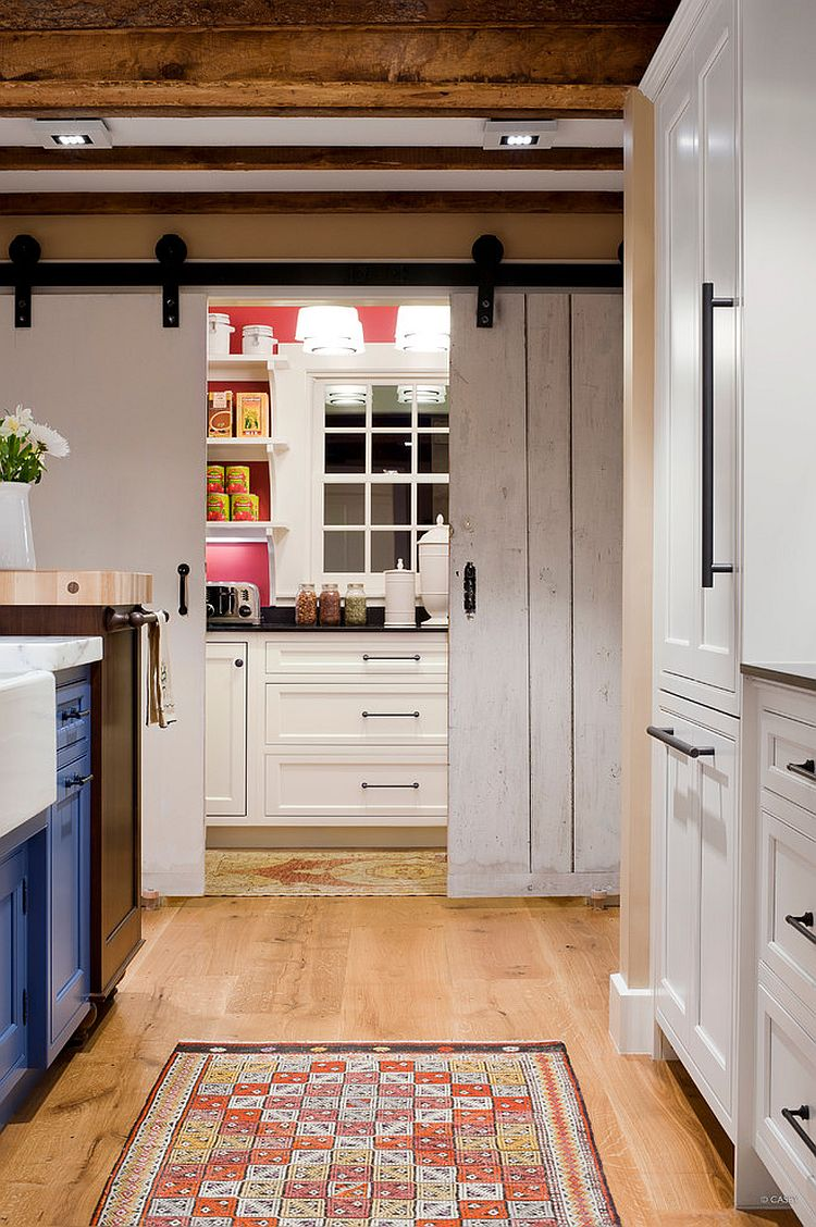 Kitchen Open Door Design 25 Trendy Kitchens That Unleash The Allure Of Sliding Barn Doors