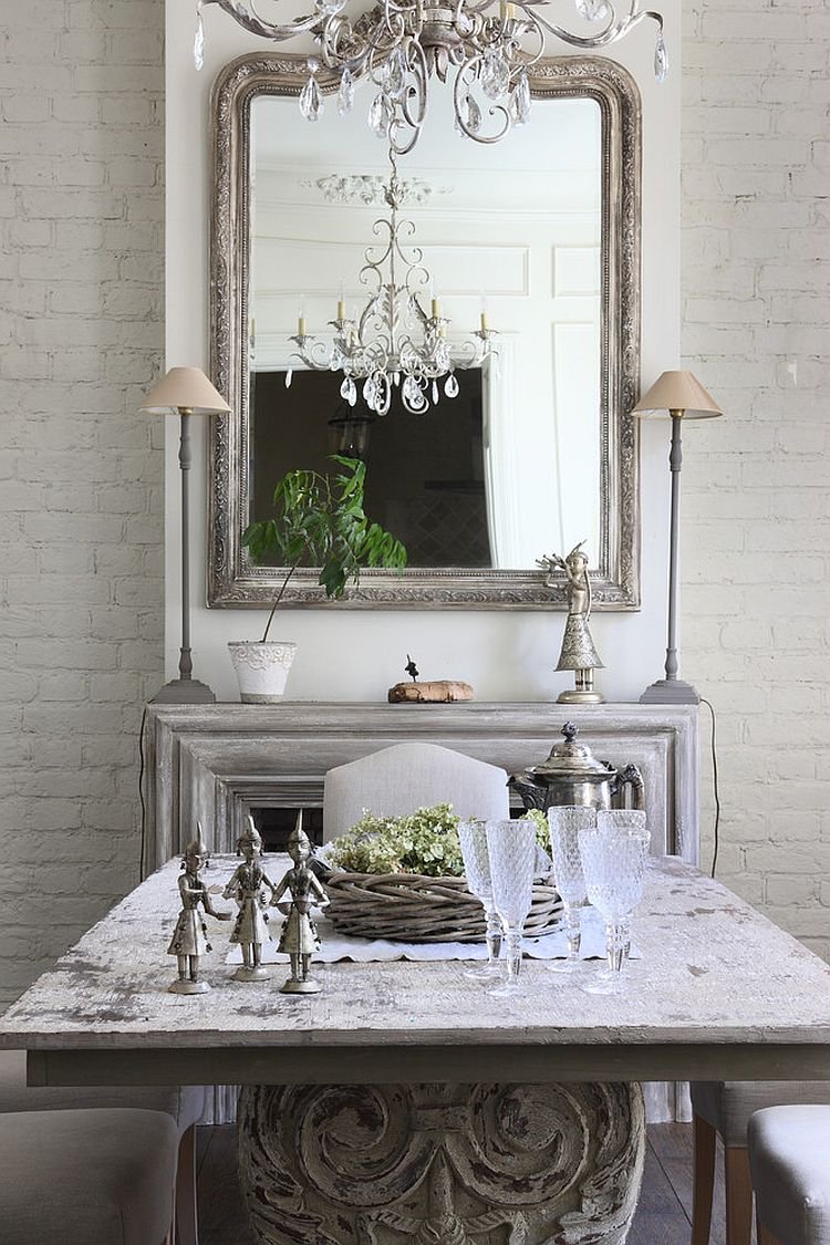 Shabby Look 50 Cool And Creative Shabby Chic Dining Rooms