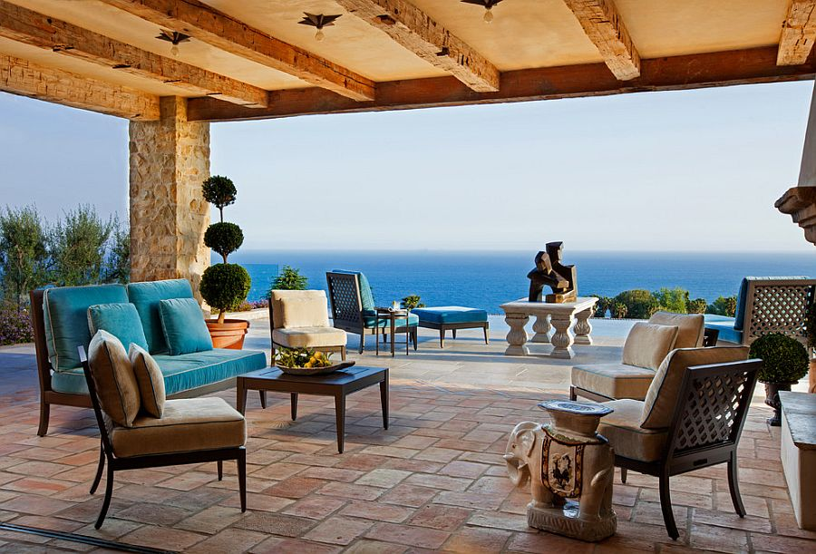 Amenagement De Patio Exterieur Luxurious Tuscan Style Malibu Villa By Paul Brant Williger