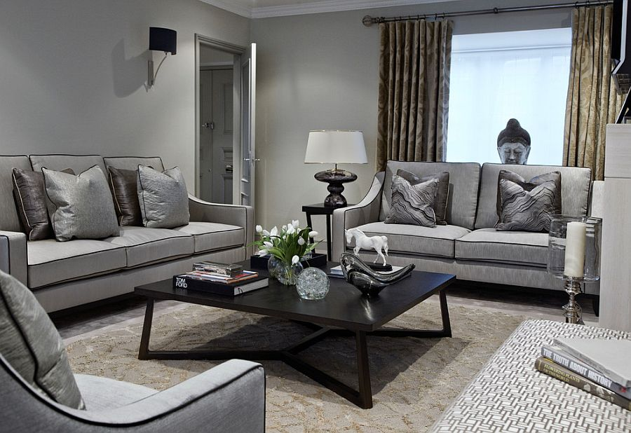Bold And Glamorous How To Style Around A Black Coffee Table