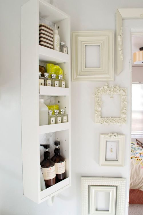 Medium Of Bathroom Wall Organizer Shelves