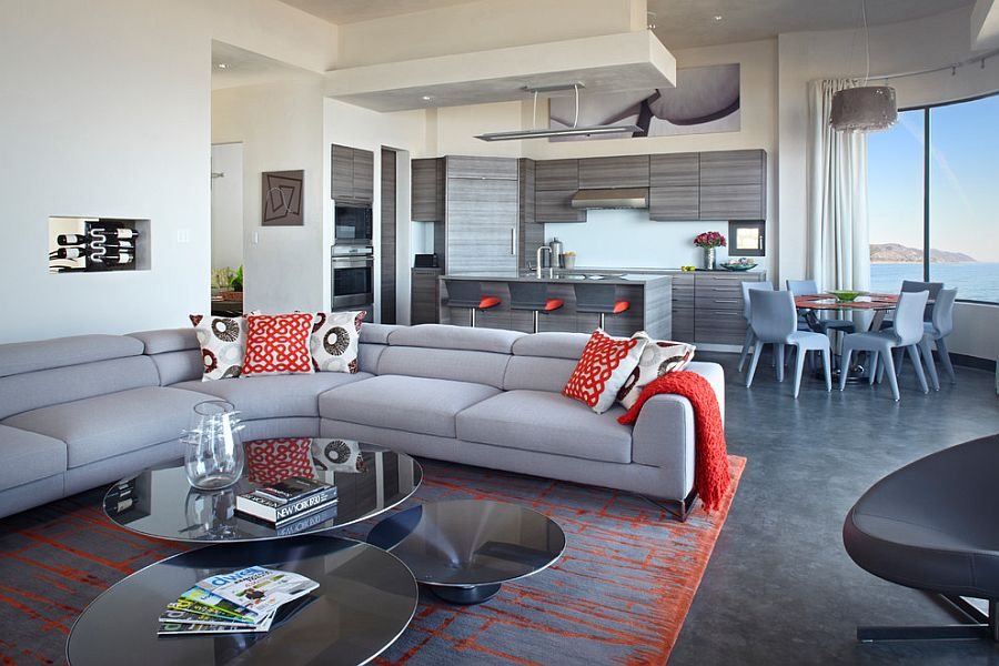 Bold and Glamorous How to Style Around a Black Coffee Table - tables for living room