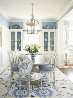 Small Of Blue Dining Room