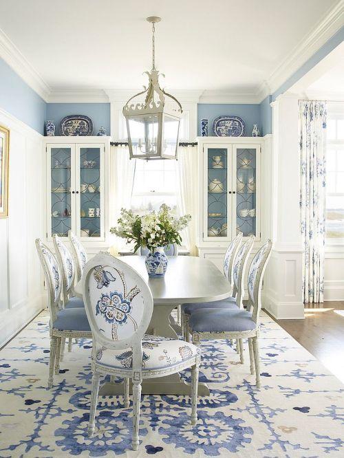 Medium Of Blue Dining Room