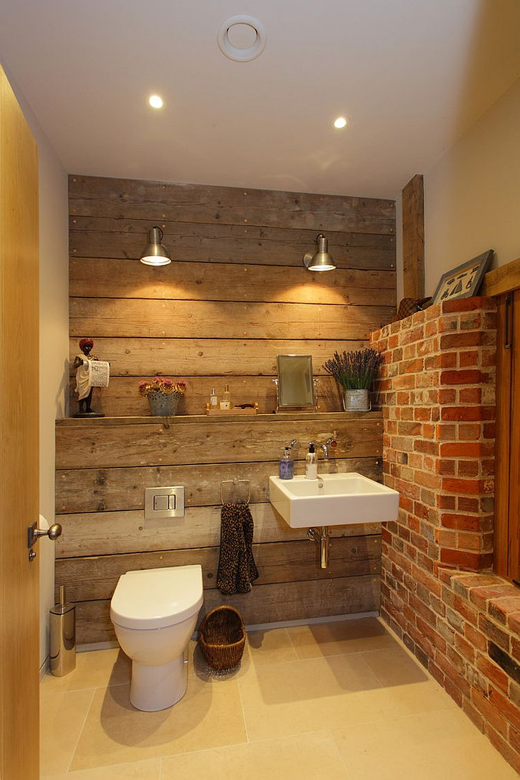 Led Beleuchtung Bad Rugged And Ravishing: 25 Bathrooms With Brick Walls