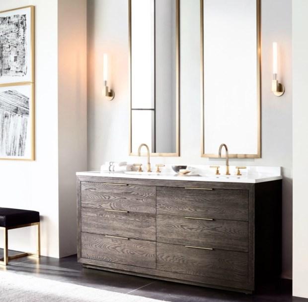 luxury of high-end bathroom modern vanities