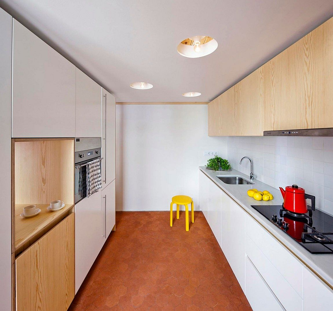 space savvy kitchen mezzanine small barcelona apartment small kitchen requires innovative approach designed kitchen