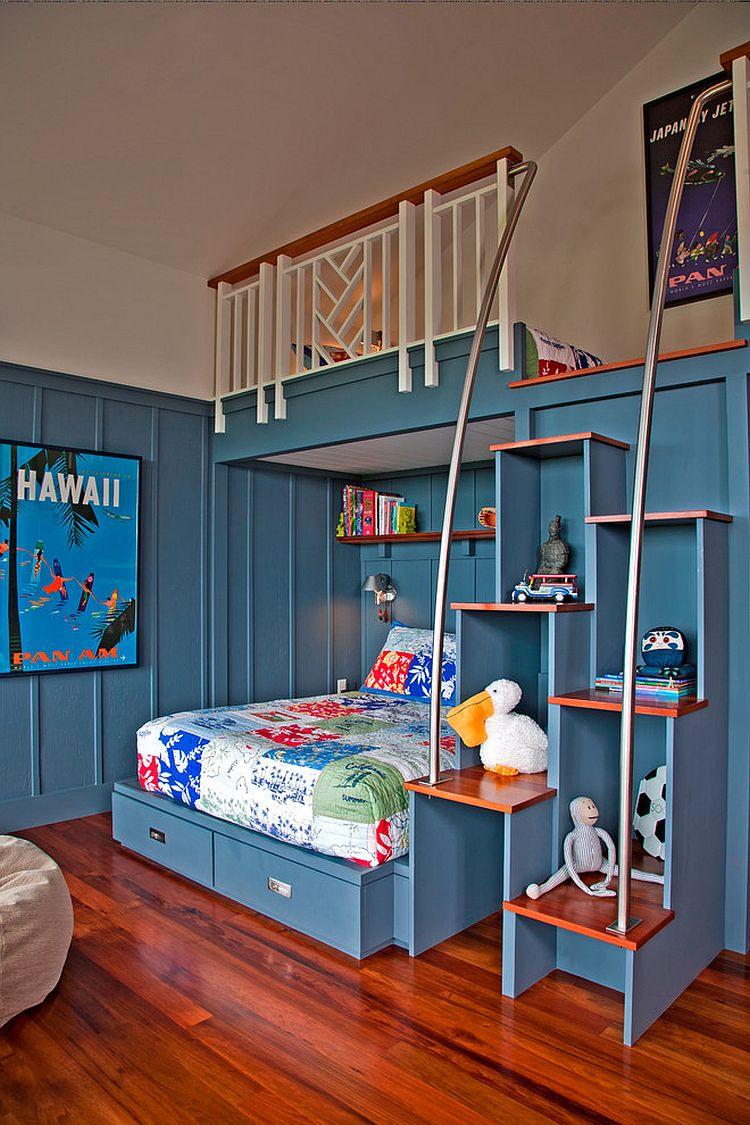 Floating Bunk Beds Inspired Displays: 20 Unique Shelves For A Creative Kids' Room