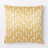 Yellow geo pillow cover from West Elm - Decoist