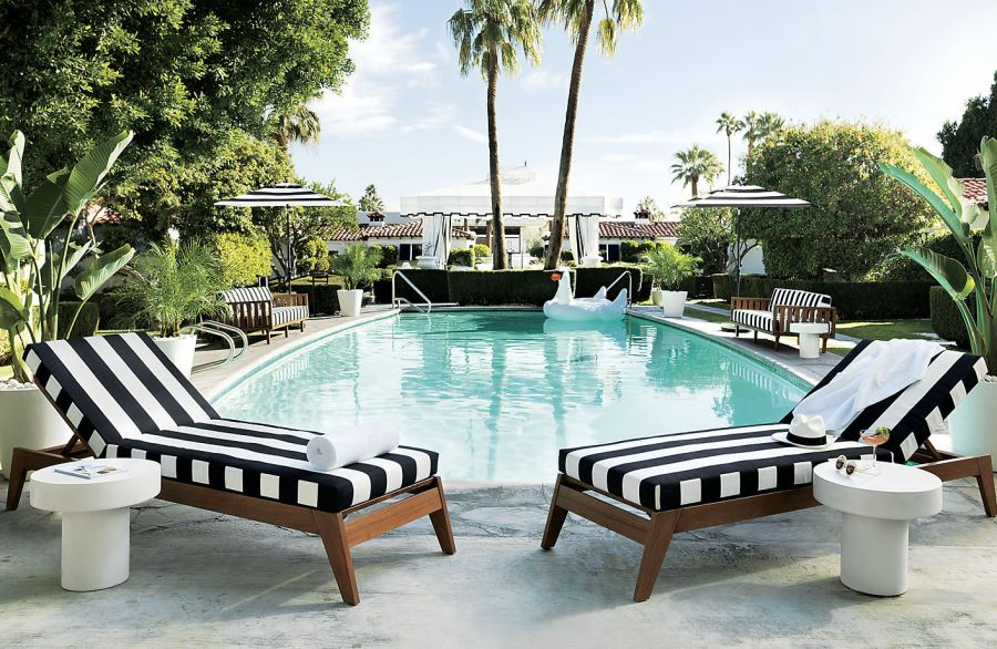 Big Sofa Cabana Patio Furniture And Decor Trend: Bold Black And White