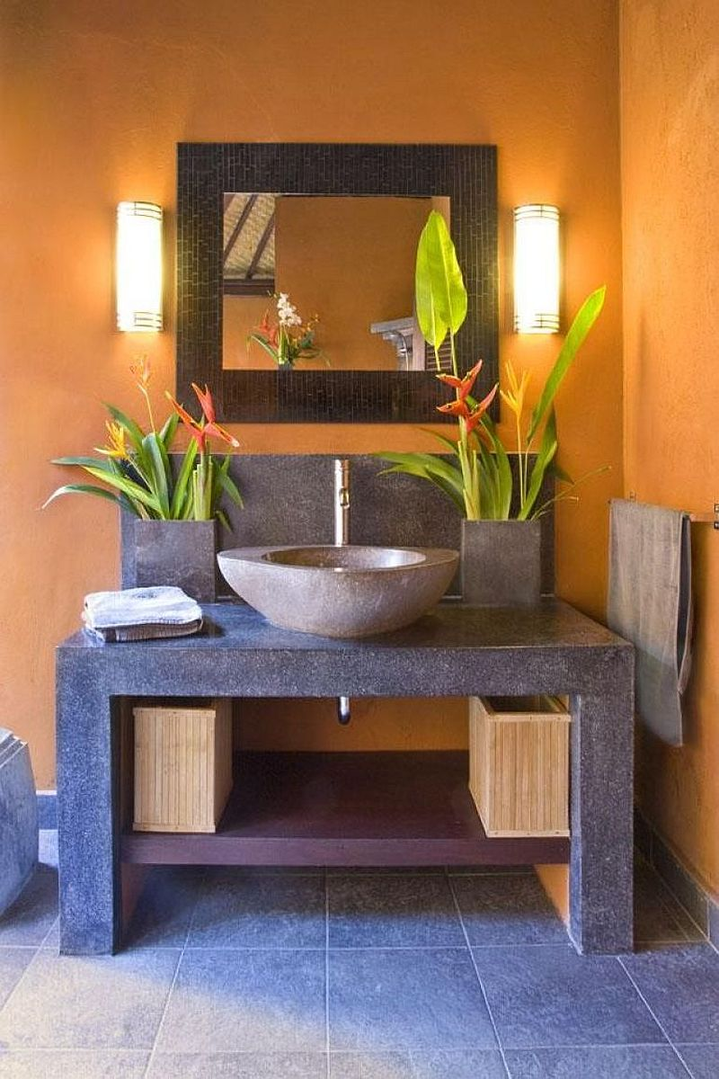 Pics Of Kitchens With Off White Cabinets Hot Summer Trend: 25 Dashing Powder Rooms With Tropical Flair