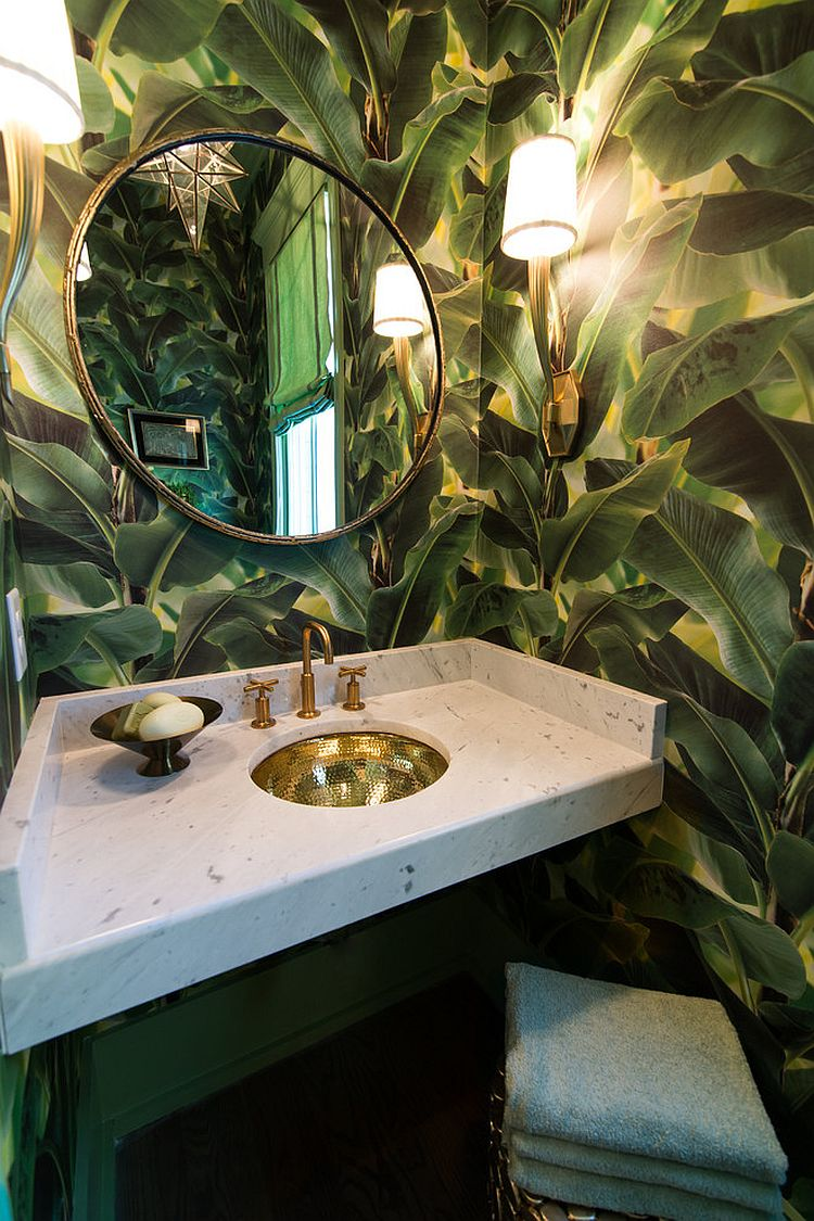 Decoration Toilette Design Hot Summer Trend: 25 Dashing Powder Rooms With Tropical Flair