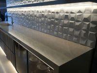 3D geometric tiled backsplash for the kitchen - Decoist