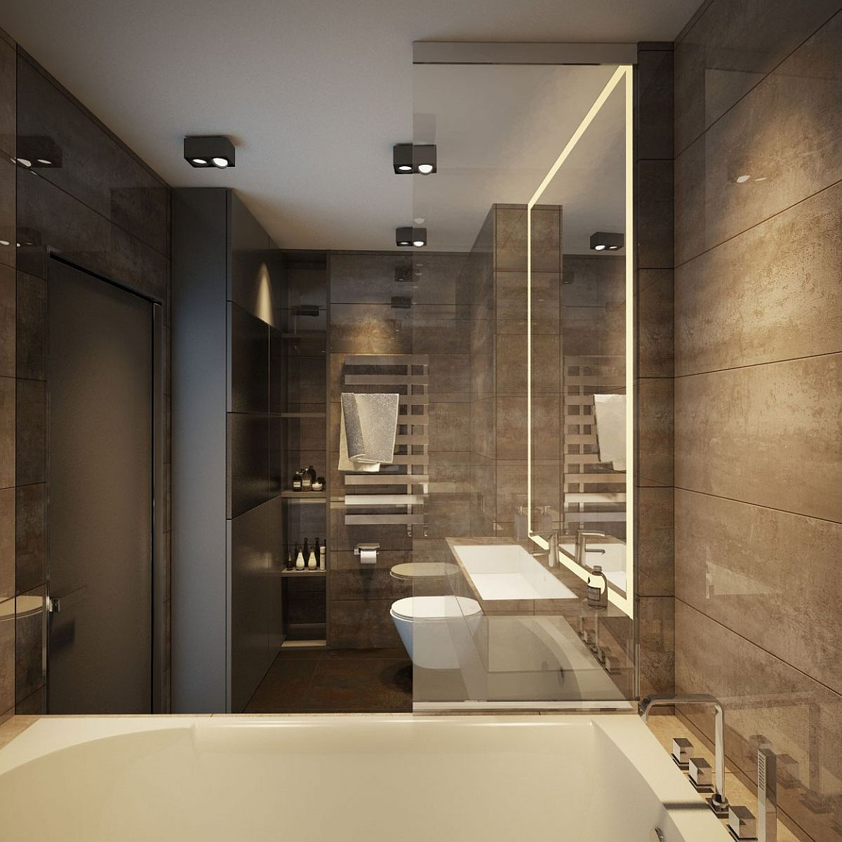 Architecture Bathroom Design Apartment Ernst In Kiev Inspired By Posh Hotel Ambiance