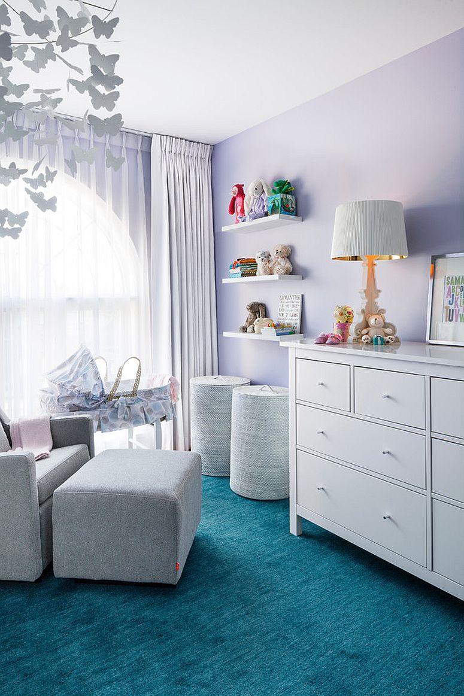 Wallpaper For Teenage Girl Room 20 Gorgeous Nurseries With Purple Panache
