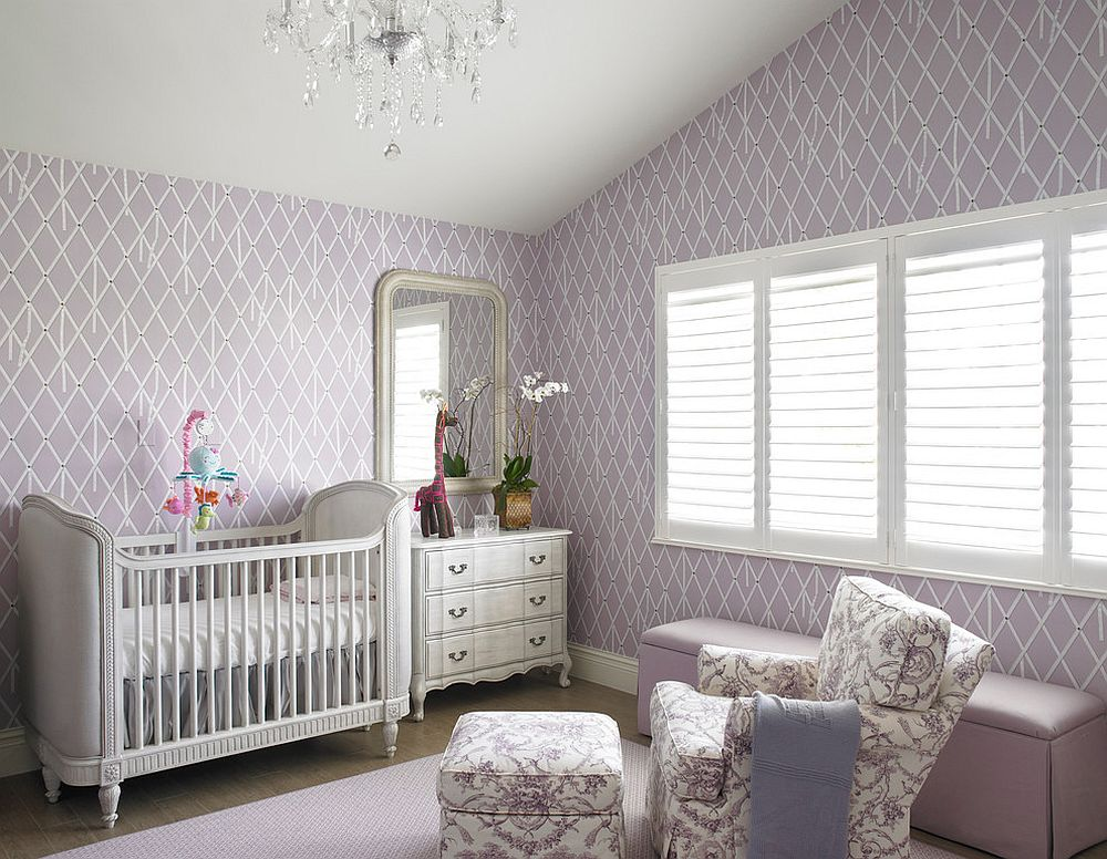 Wallpaper Ideas For Baby Girl Nursery 20 Gorgeous Nurseries With Purple Panache