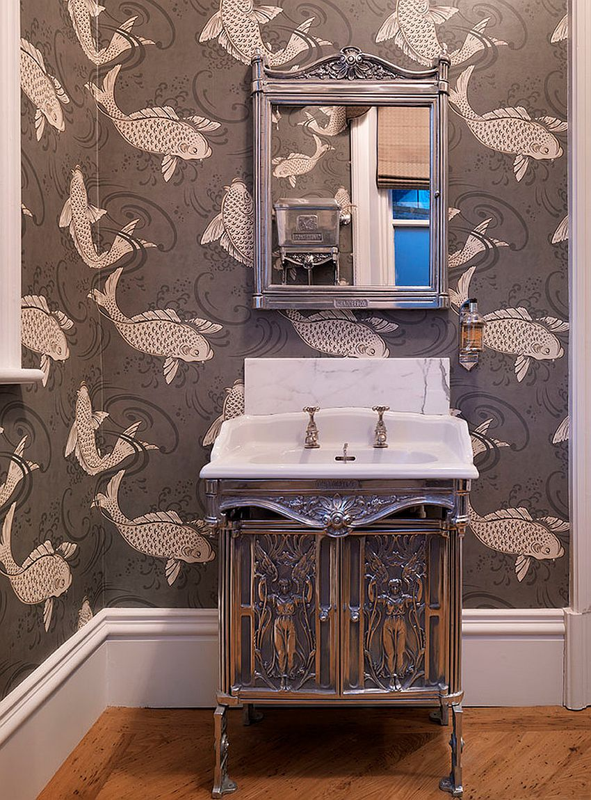 Fornasetti Tapete A Timeless Affair: 15 Exquisite Victorian-style Powder Rooms