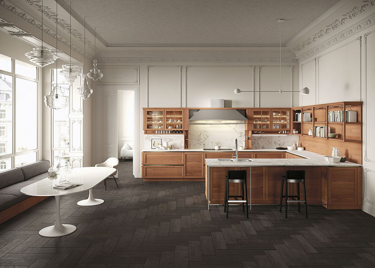 Modern Kitchen Design Elements Heritage Traditional And Modern Elements Fused By The Beauty Of Wood