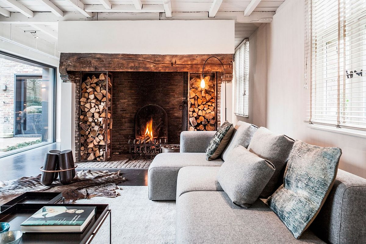 Old Farmhouse Fireplaces Synergy Of Contrasting Styles Farmhouse Renovation In Belgium
