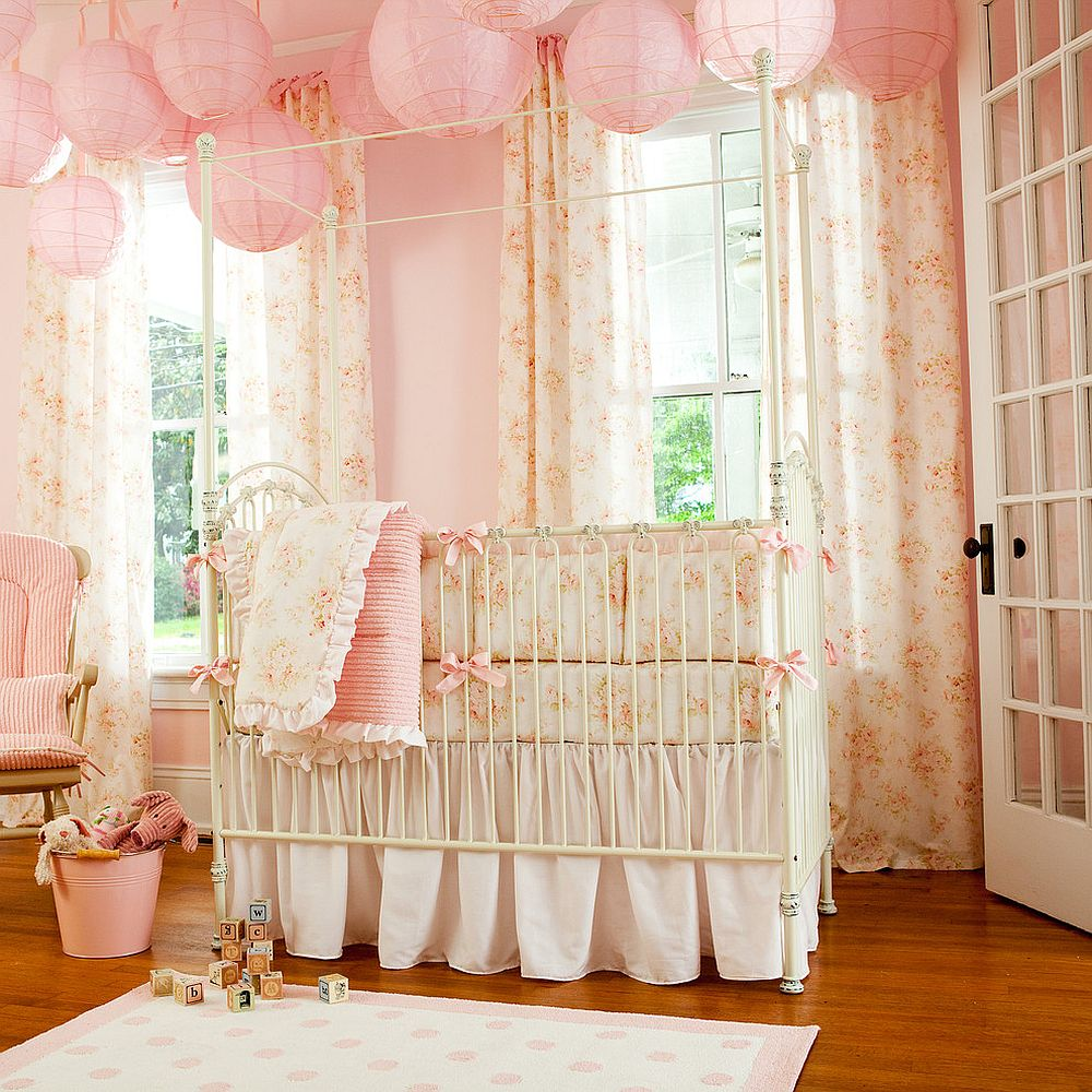 Baby Girl Nursery Lighting 10 Shabby Chic Nurseries With Charming Pink Radiance