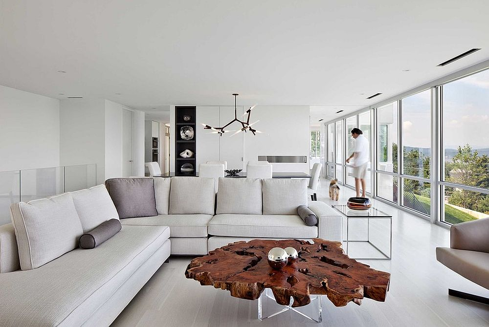 30 Live-Edge Coffee Tables That Transform the Living Room - contemporary tables for living
