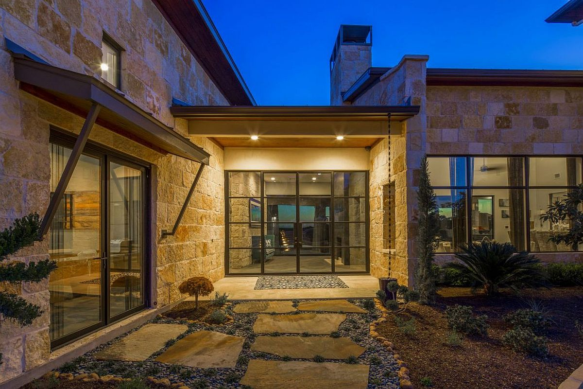 Open Master Bedroom And Bathroom Ideas Musket Contemporary In Austin: A Blend Of Rustic Beauty