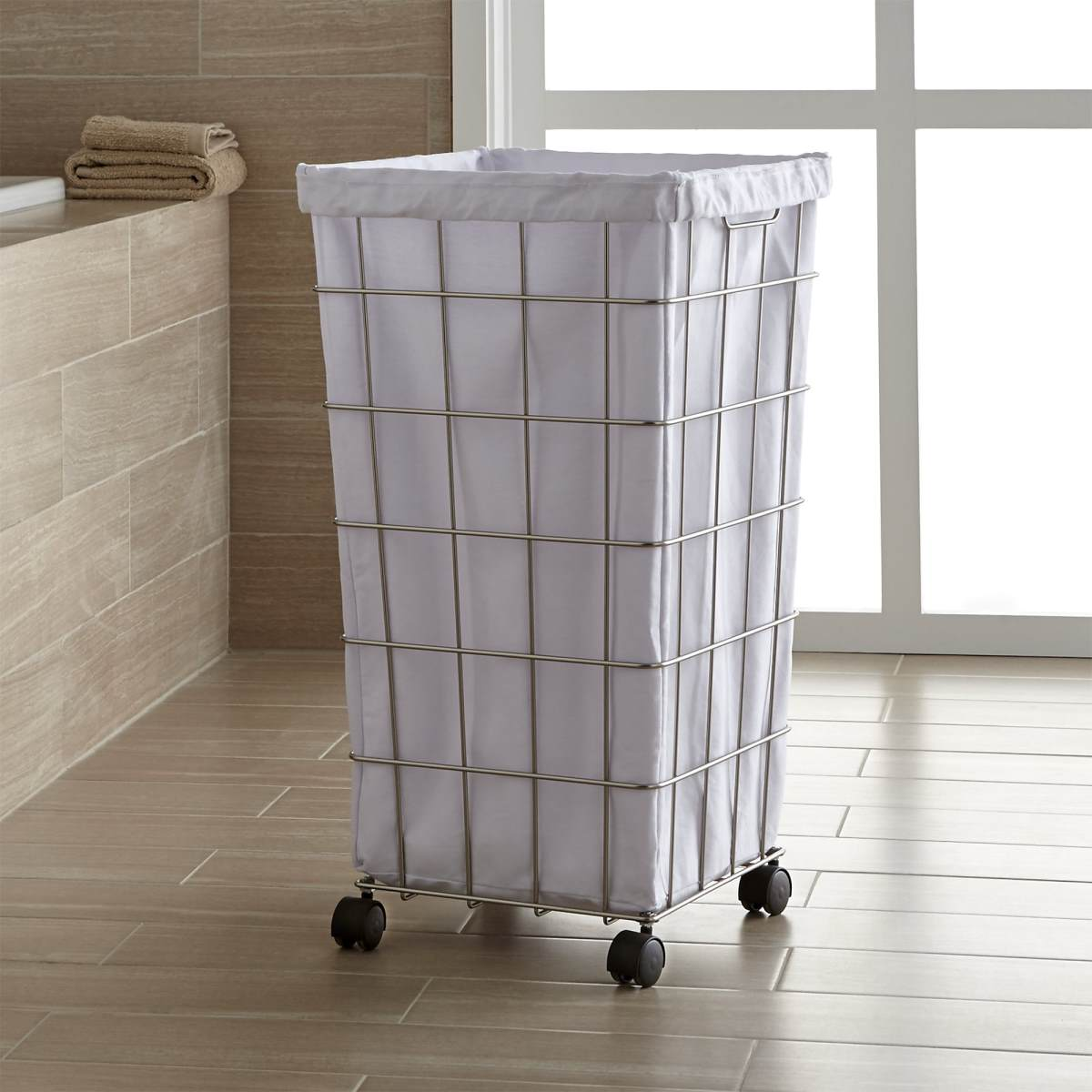 White Hamper With Liner 20 Laundry Basket Designs That Make Household Chores Stylish