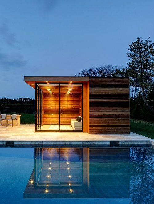 Medium Of Pool House Ideas