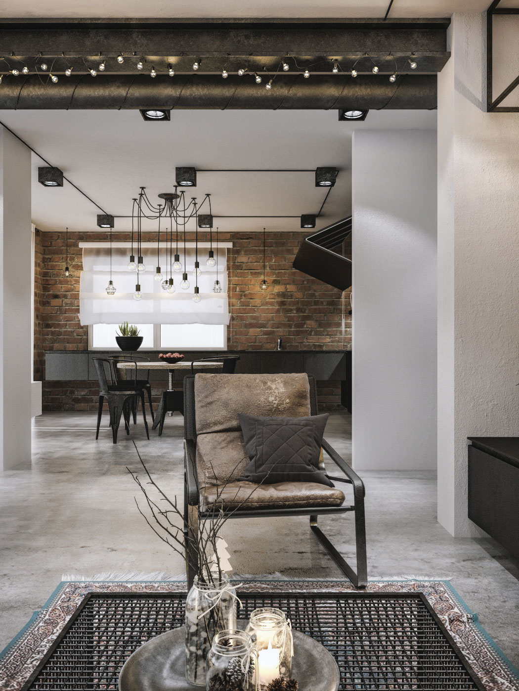 Industrial Chic Lighting Modern Loft In Kaunas Industrial Style Wrapped In