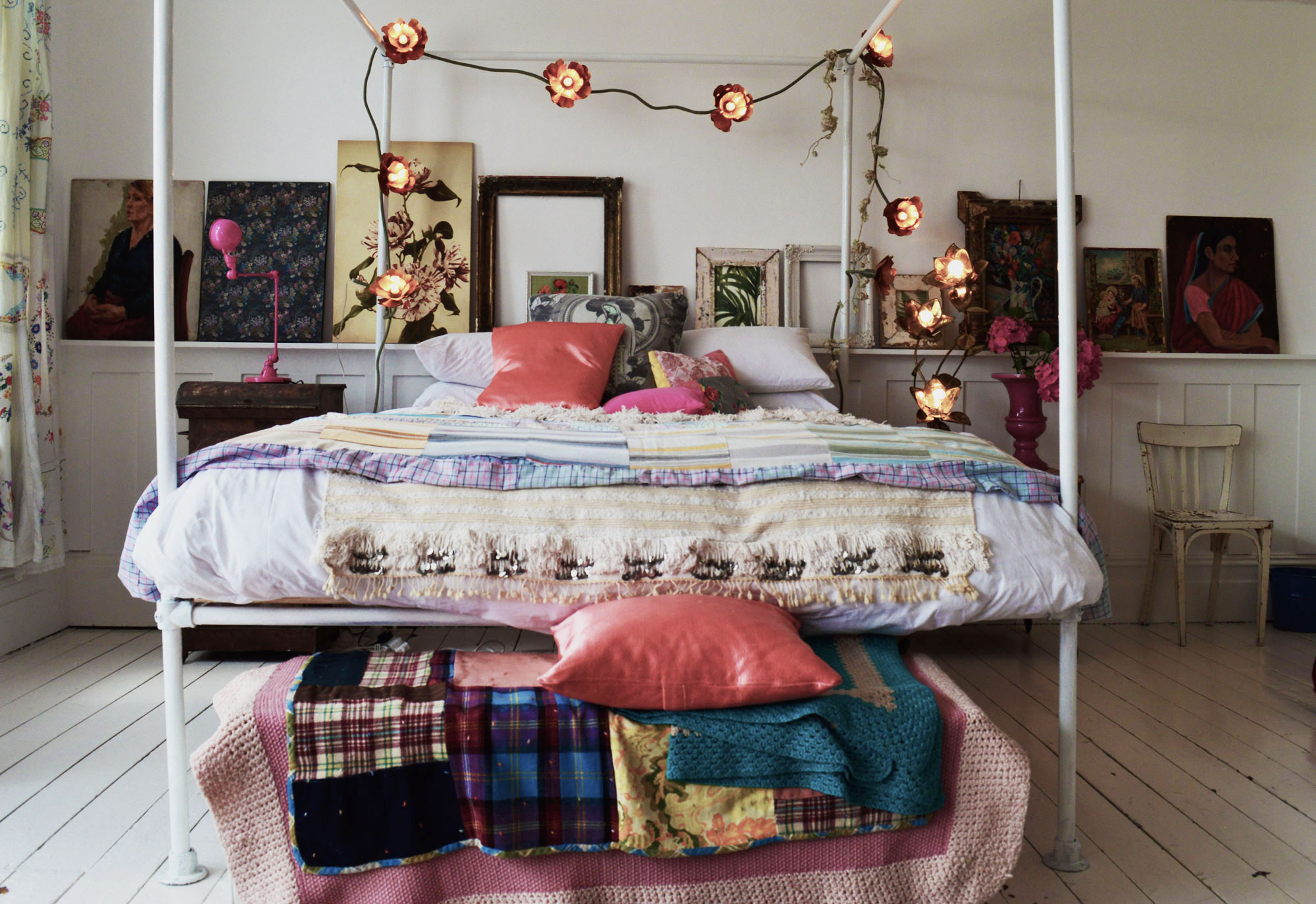 Boho Bed Frame Bohemian Bedroom Inspiration Four Poster Beds With Boho
