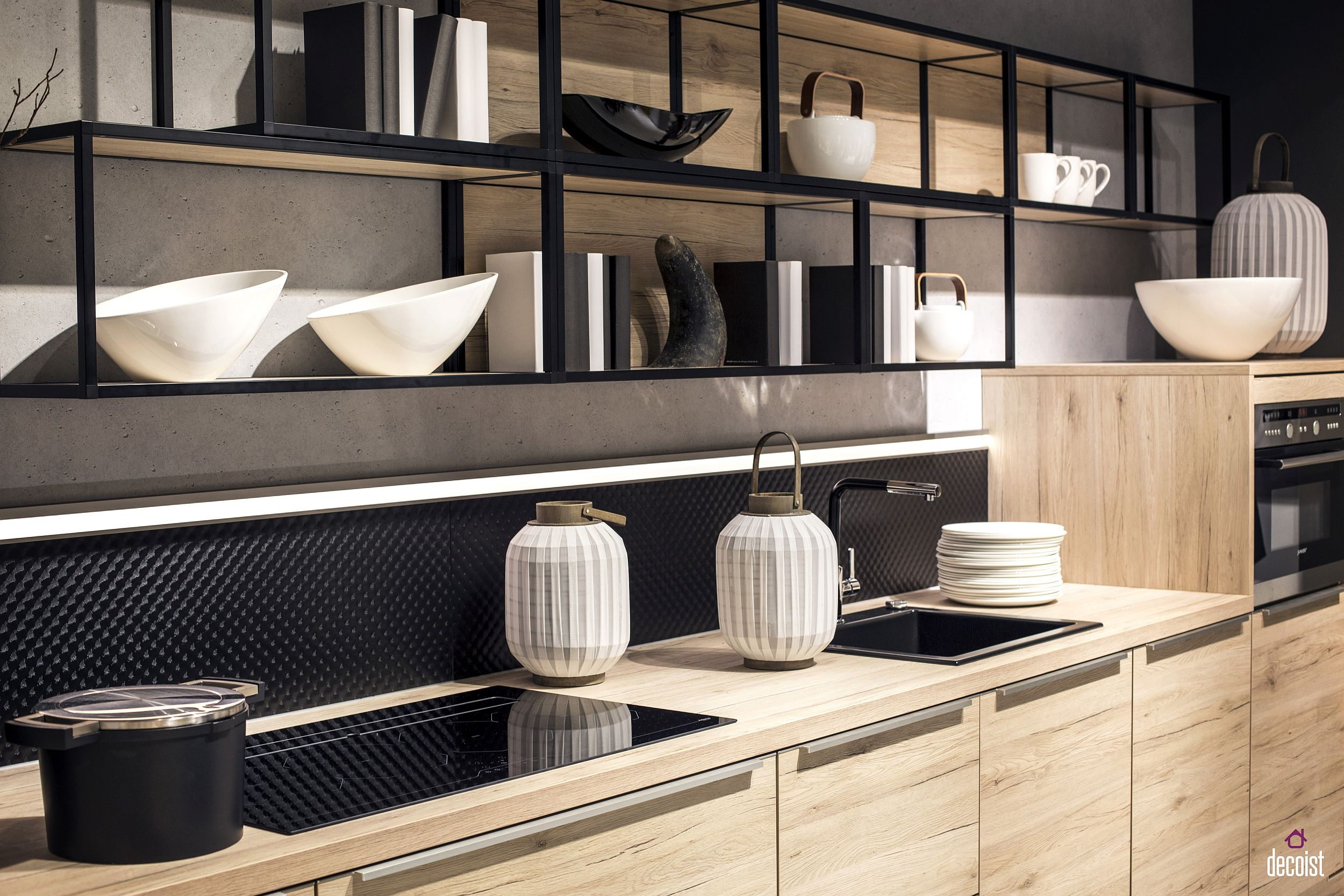 Industrial kitchen shelves