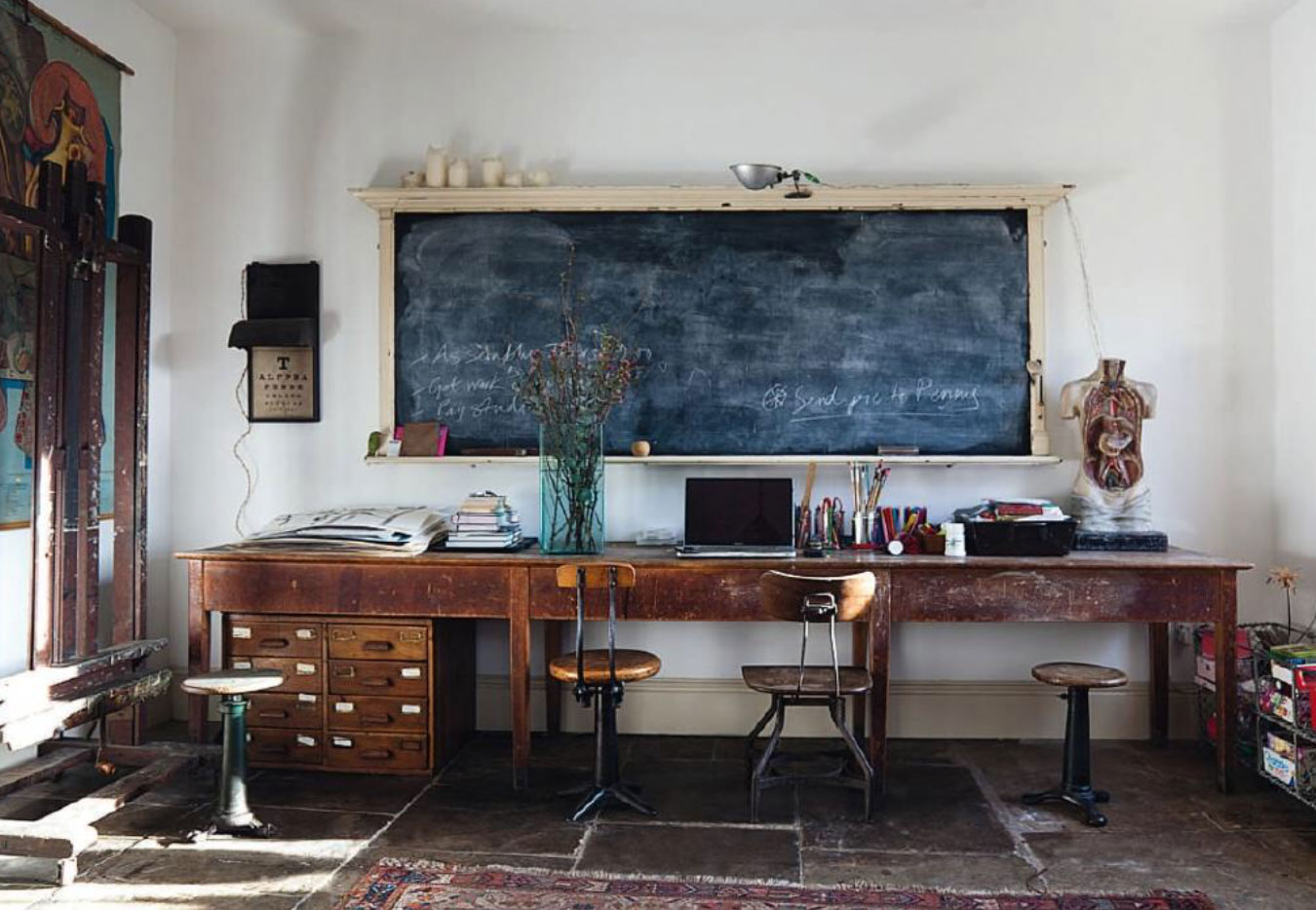 Rustic Modern Office Cozy Workspaces Home Offices With A Rustic Touch
