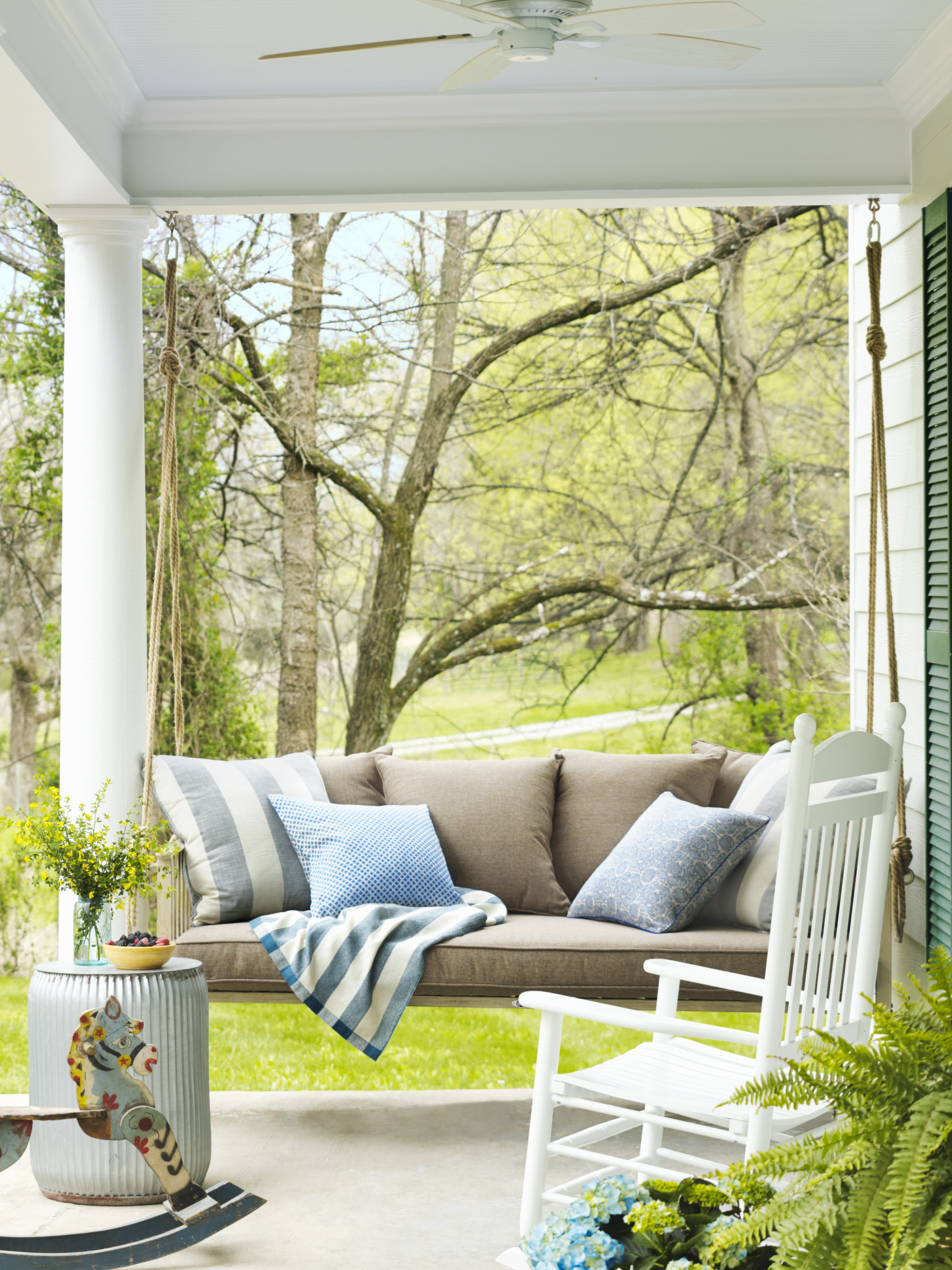 Farmhouse Front Porch Swing Getting Ready For Summer Enliven Your Porch With Comfy Swings