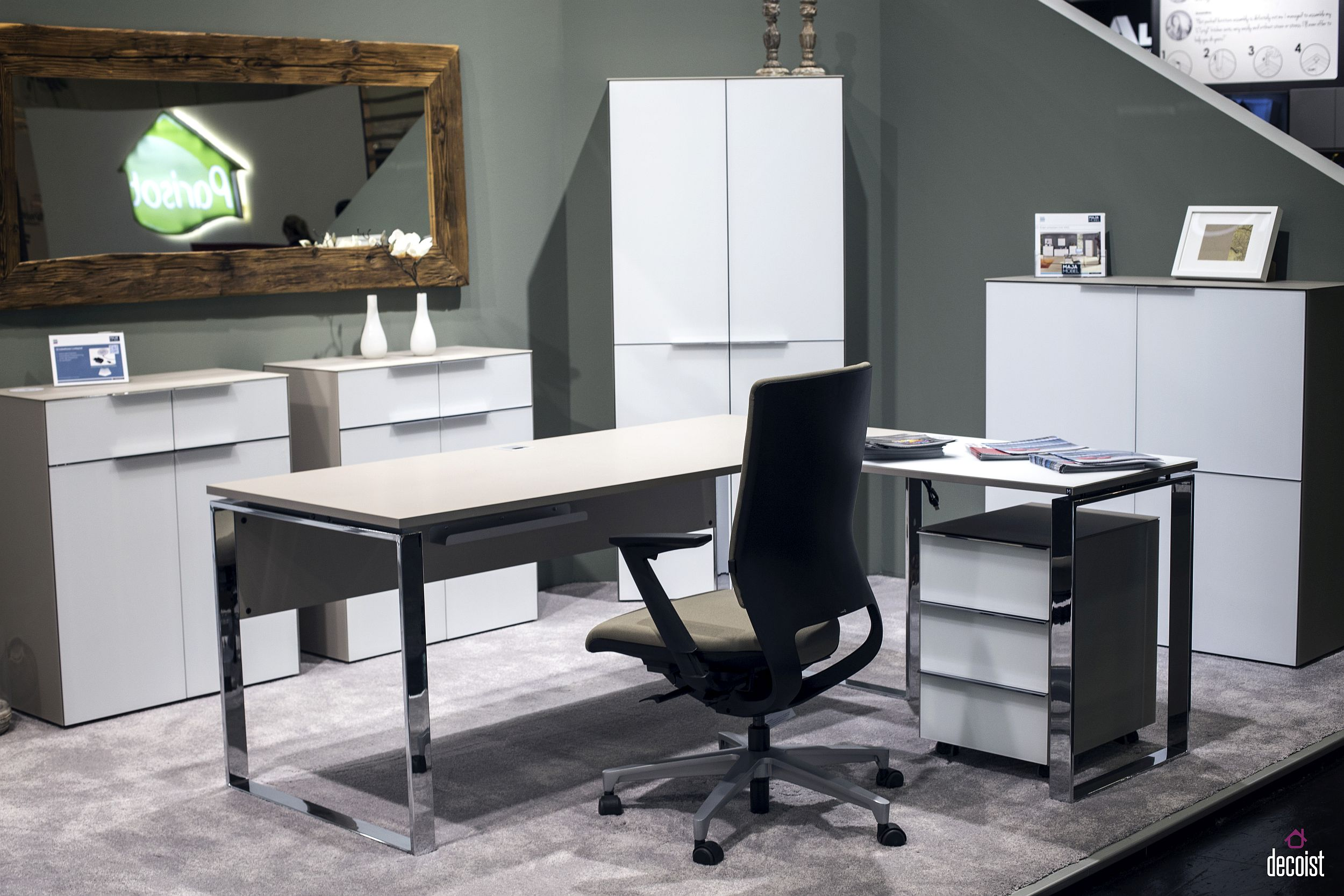 Schreibtisch Set Modern Getting It Right Finding Home Office Shelving That Works