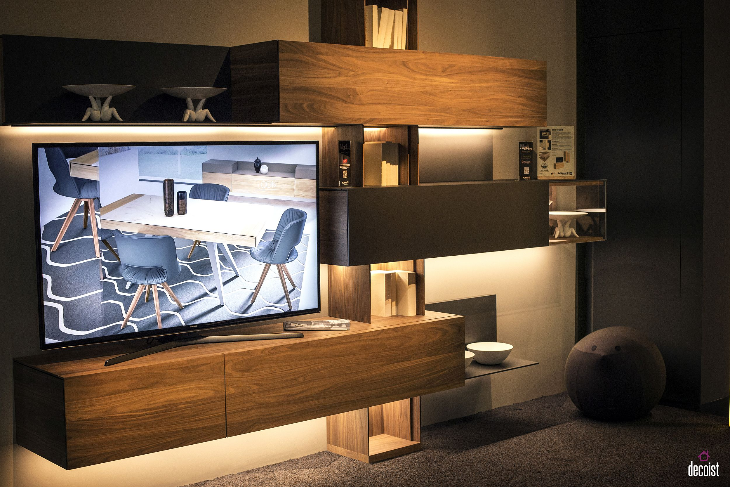 Slim Tv Unit Tastefully Space Savvy 25 Living Room Tv Units That Wow