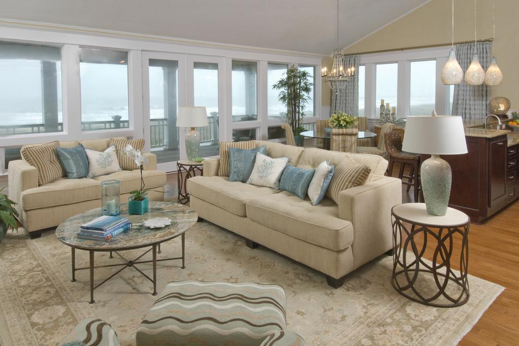 Coastal Living Rooms That Will Make You Yearn for the Beach - beach theme living room