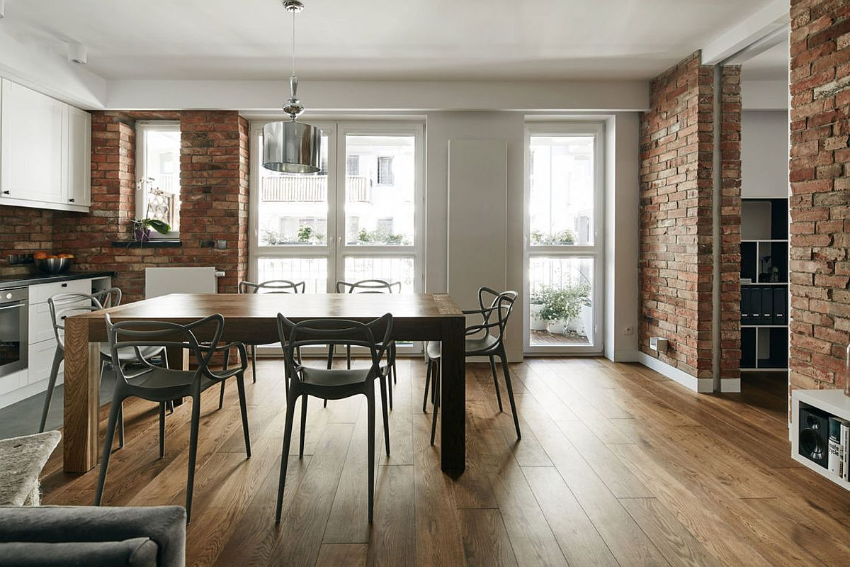 Apartments With Exposed Brick Renovated Krakow Apartment Showcases Beauty Of Exposed